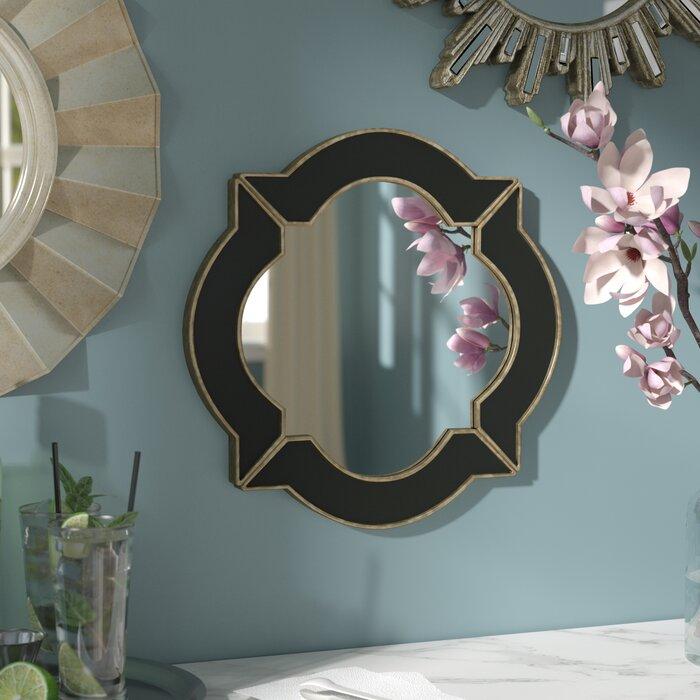 Black Gold Resin Wall Mirror
