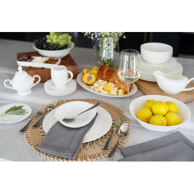 Darby Home Co Maret Bone China 32 Piece Dinnerware Set, Service for 6