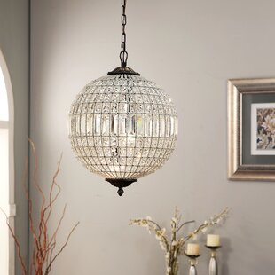 House of Hampton Chisnell 3-Light Crystal Chandelier