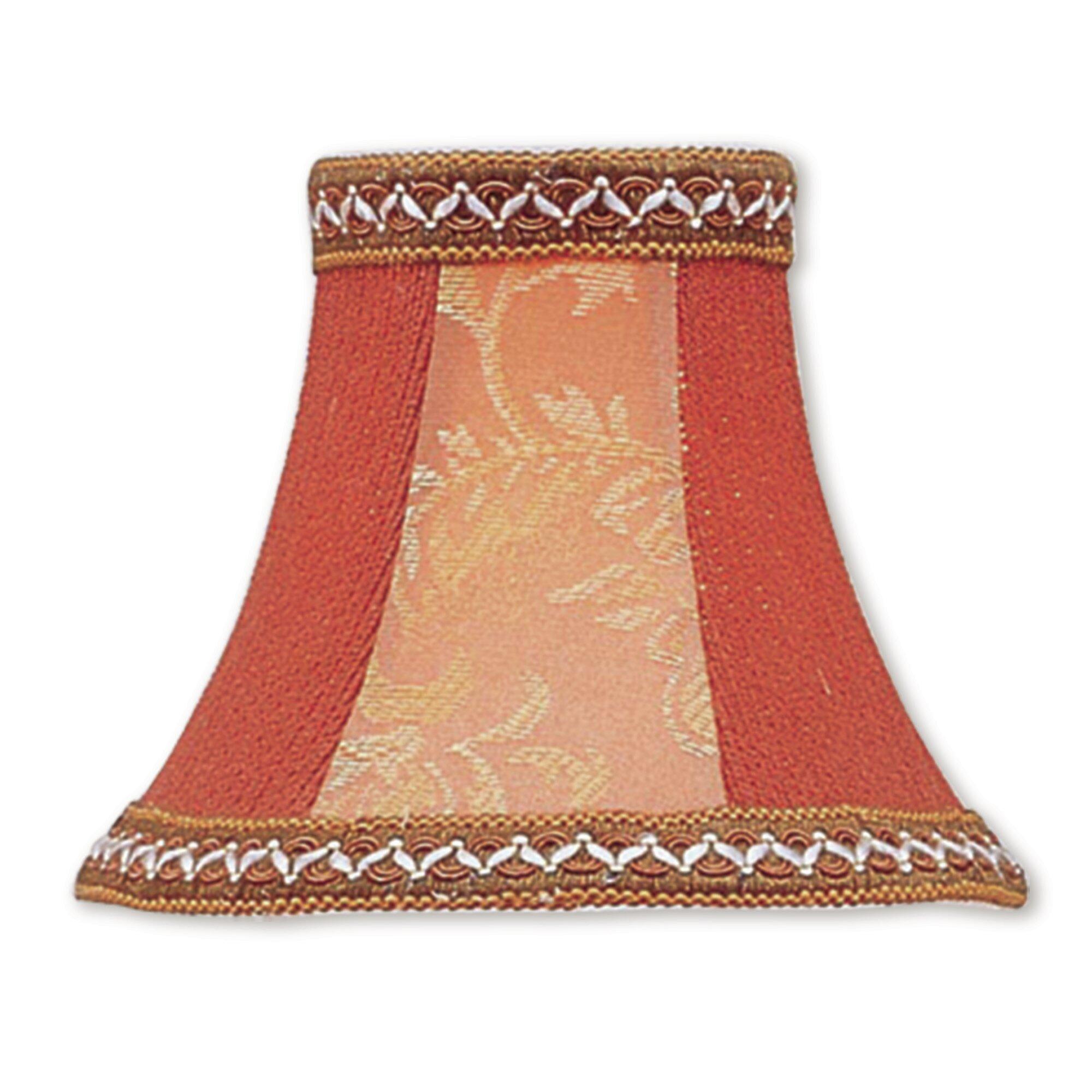 Astoria Grand 5 H Silk Shantung Bell Candelabra Shade Clip On In Mauve Wayfair