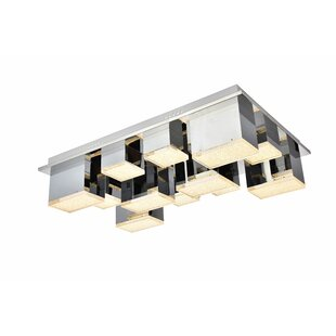 Orren Ellis Corbyn 12-Light LED Flush Mount