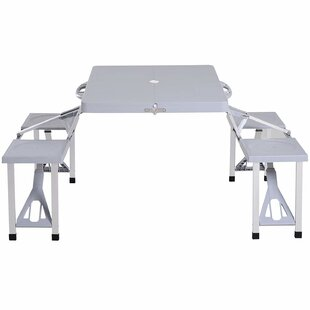 Samee Folding Aluminum Camping Table By Sol 72 Outdoor