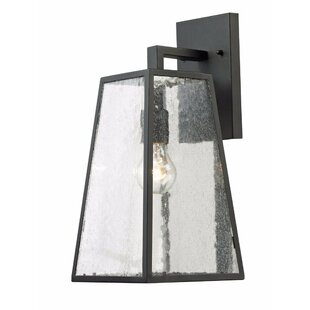 Price Check Hanahan 1-Light Outdoor Wall Lantern By Brayden Studio