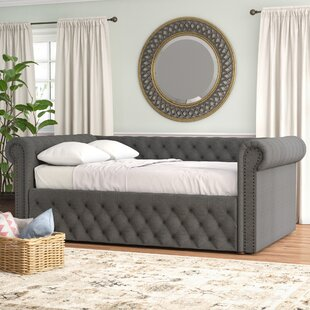 Hinsdale Full Linen Daybed Three Posts