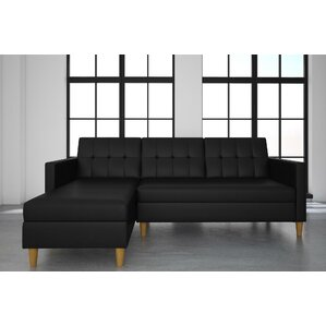 stigall sleeper sectional - Modern Leather Sectional