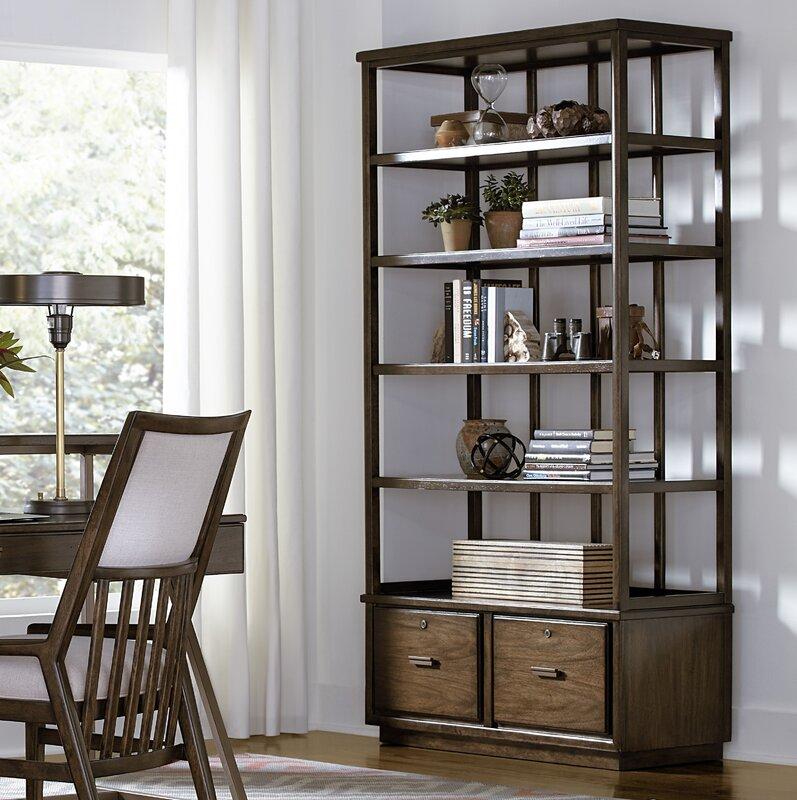 "stanley santa clara lateral file 80"" etagere bookcase | wayfair"