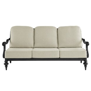 Hargrave Patio Sofa with Cushions by Canora Grey