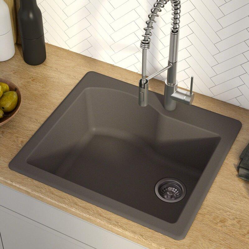Quarza 25 L X 22 W Drop In Kitchen Sink Reviews Allmodern