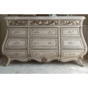 Michael Amini Platine De Royale 12 Drawer Dresser