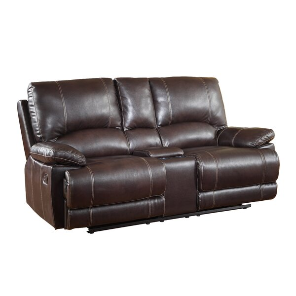Awe Inspiring Loveseat Recliner With Console Wayfair Pabps2019 Chair Design Images Pabps2019Com