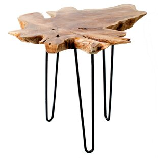 Mcknight Wood Top End Table