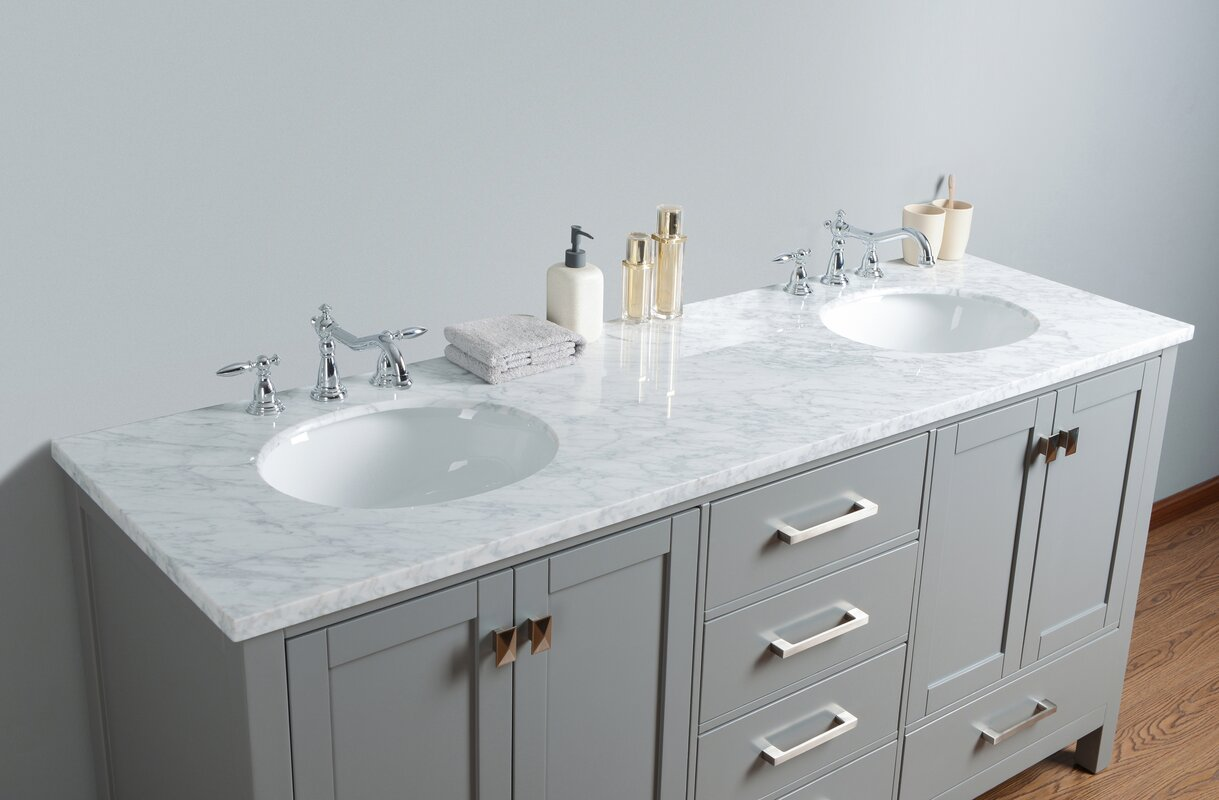 Double Sink Bathroom Vanity House Construction Planset of dining room