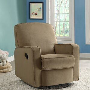 maple sylvie swivel reclining glider