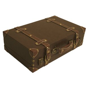 Digiacomo Faux Leather Accent Trunk by Charlton Home