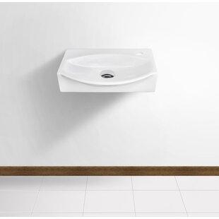 Comparison Ceramic 17 Wall Mount Bathroom Sink ByRoyal Purple Bath Kitchen
