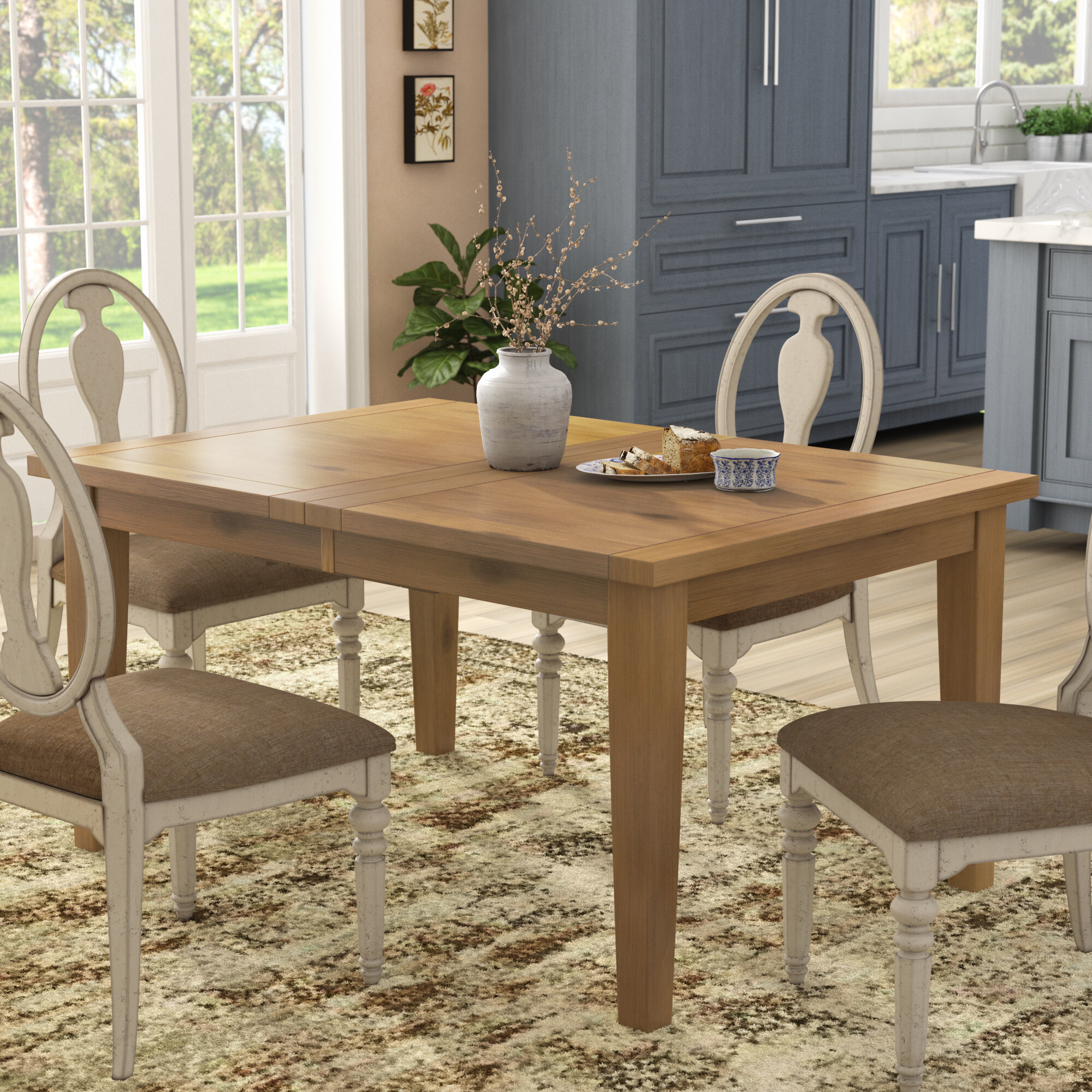 ce36893ea18 Highland Dunes Centralia Extendable Dining Table   Reviews
