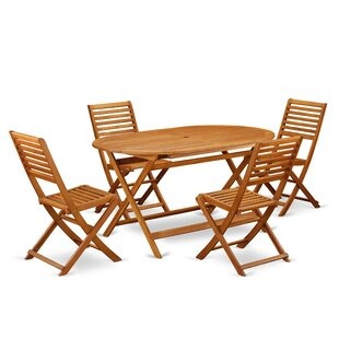 Darrion 5 Piece Patio Dining Set by Longs..
