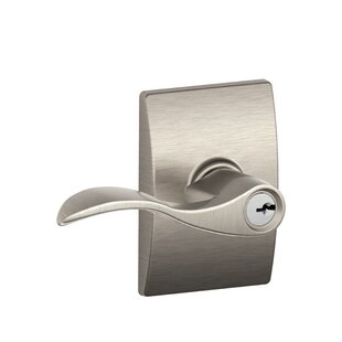 Accent Lever with Century Trim Keyed Entry Lock by Schlage