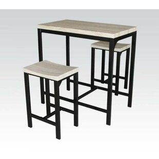Hussain 3 Piece Counter Height Dining Set by Winston Porter