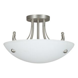 Boutin 2-Light Semi-Flush Mount by Fleur De Lis Living