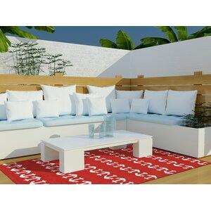 Orinda Hand-Tufted Red Indoor/Outdoor Area Rug
