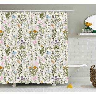 Menthe Herbs Flowers Shower Curtain