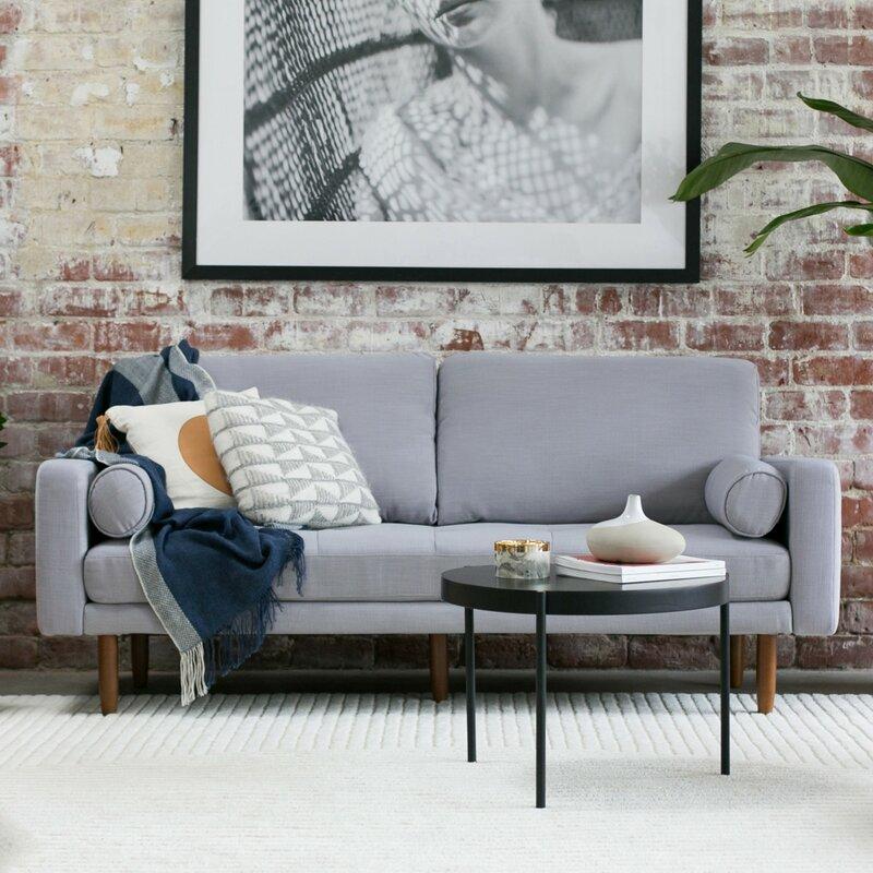 Mid Century Sofa With USB