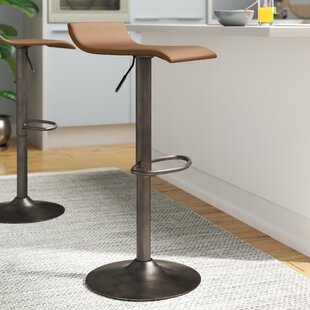 Camargo Adjustable Height Swivel Bar Stool Set of 2 by Wade Logan