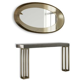 Brayden Studio Saybrook Console Table and Mirror Set