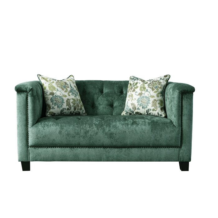 Groovy Acanva Vintage Tufted Velvet Loveseat Andrewgaddart Wooden Chair Designs For Living Room Andrewgaddartcom