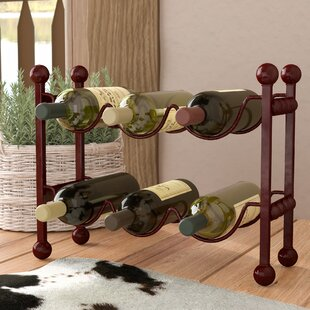 Cercis Horizontal 6 Bottle Floor Wine Rac..