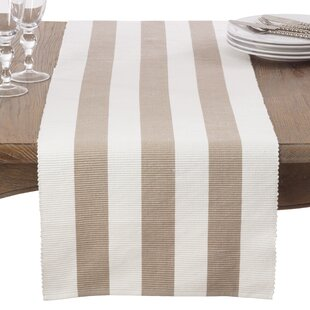 Ribbed Stripe Cotton Table Runner