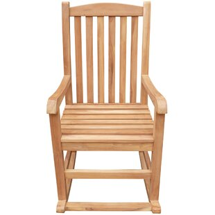 Highland Dunes Cosentino Teak Rocking Chair