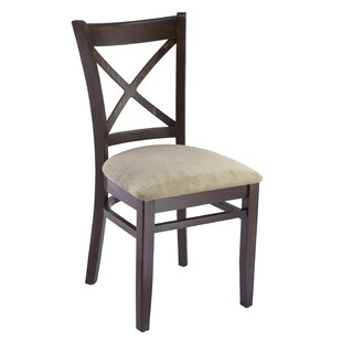 Gambrel Solid Wood Upholstered Dining Chair (Set of 2) August Grove