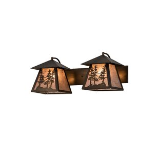 Loon Peak Zambrana Tall Pines 2-Light Vanity Lighting