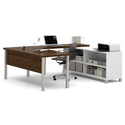 Wrought Studio Pham U-Shape Desk Office Suite Color: Oak Barrel