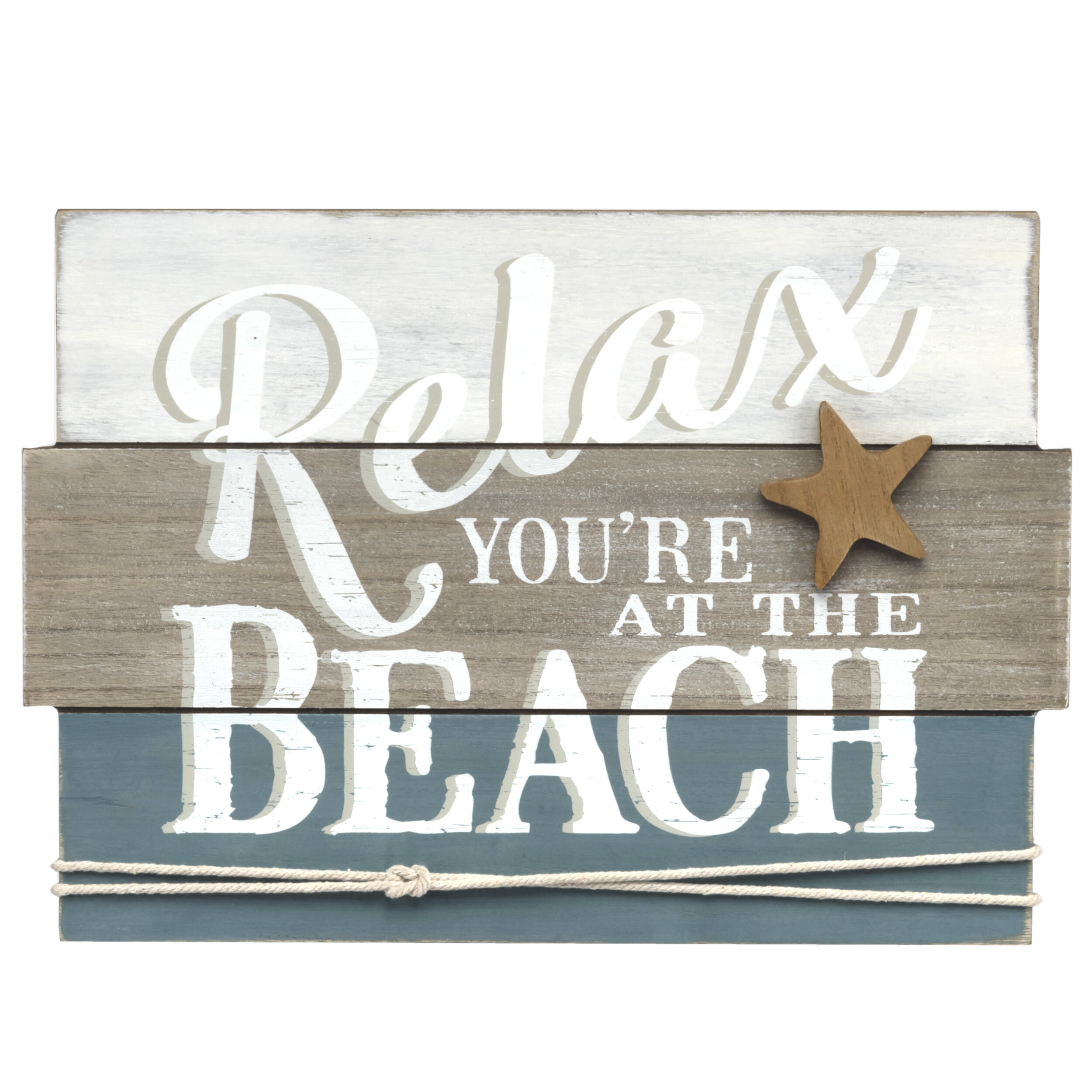 Graham Dunn Relax Weathered Look 5 x 10 Wood Plank Design Hanging Sign P