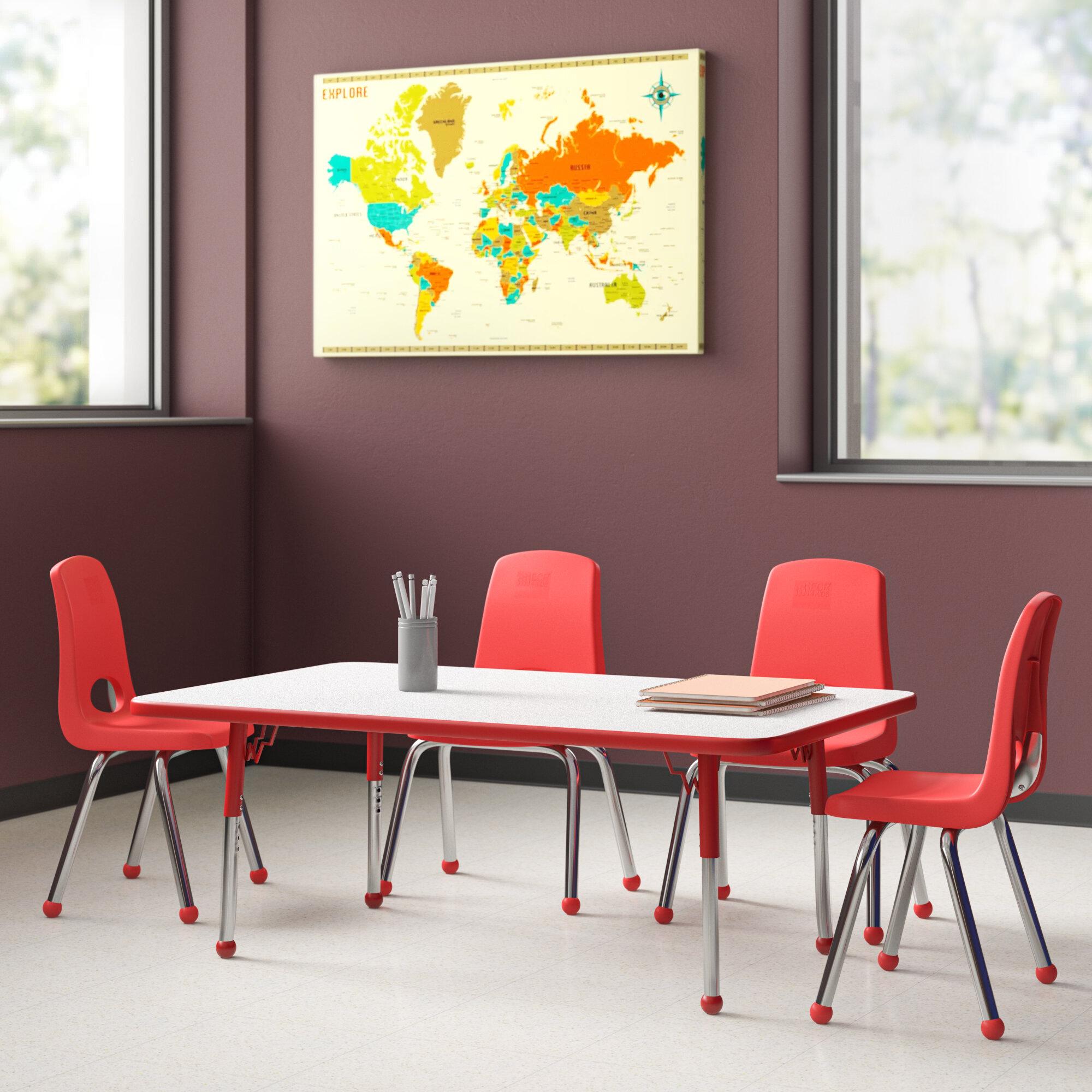 Factory Direct Partners 5 Piece Rectangular Activity Table 14 Chair Set Reviews Wayfair
