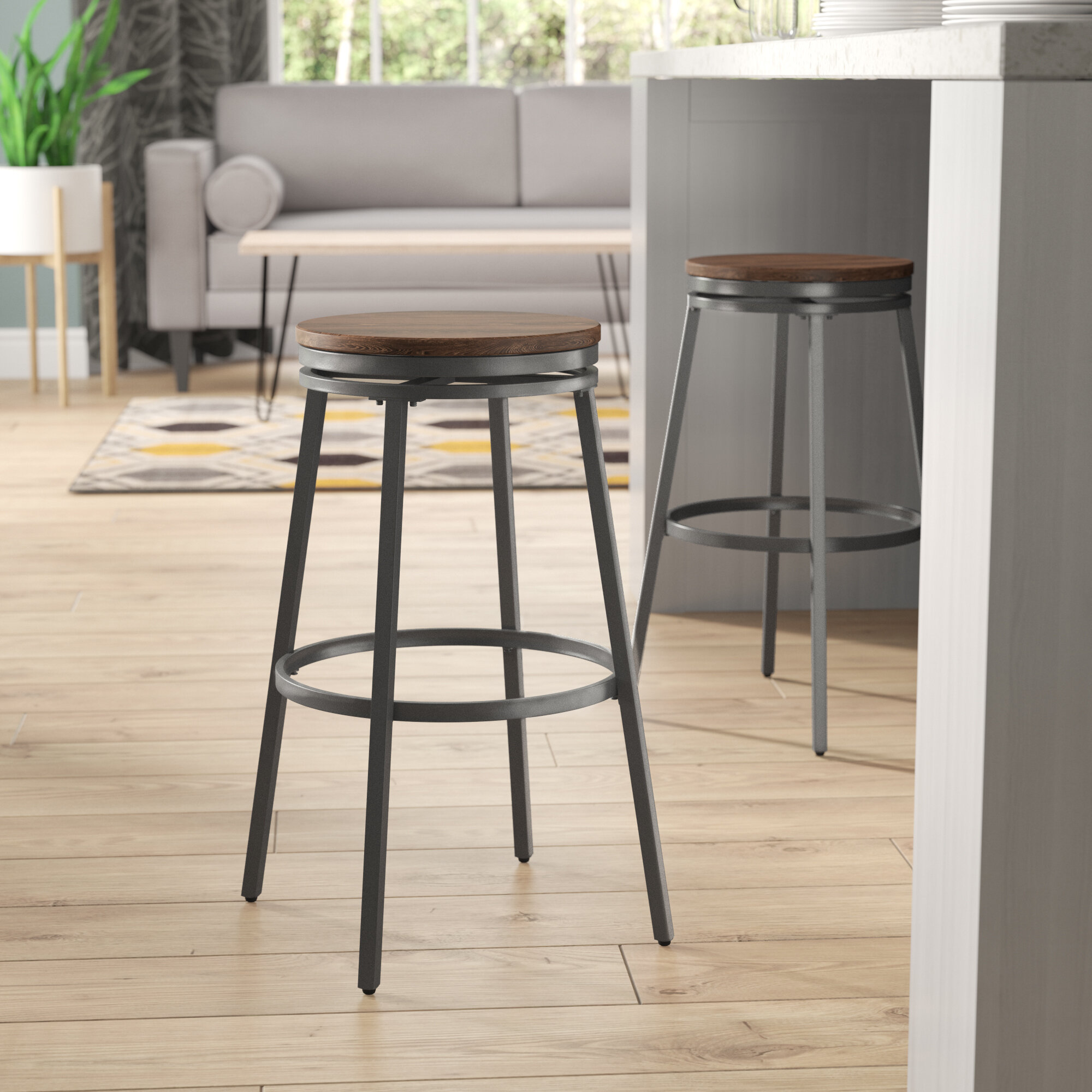 Mercury Row Aquirre 25 Swivel Bar Stool Reviews Wayfair