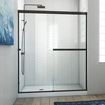 Arizona Shower Door Ese 60 X 76 Bypass Semi Frameless Shower Door Wayfair