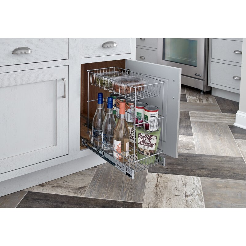 Kitchen Cabinet Pull Out Shelf: ClosetMaid 3 Tier Compact Kitchen Cabinet Pull Out Drawer