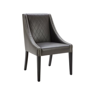 Best 5West Malabar Genuine Leather Upholstered Dining Chair Best reviews
