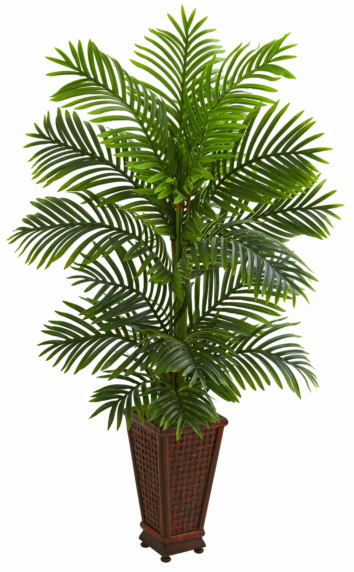 Bay Isle Home 60 Artificial Palm Tree In Planter Reviews Wayfair