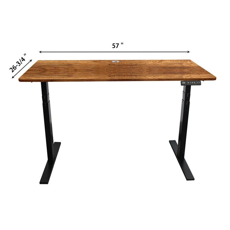 Symple Stuff Toni Ergonomic Height Adjustable Standing Desk Wayfair