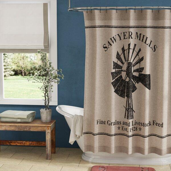"Chicken Rooster Shower Curtain 72/"" Feed Sack Farmhouse Primitive Bathroom Decor"