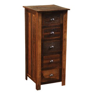 Premium Barnwood 5 Drawer Lingerie Chest by Fireside Lodge