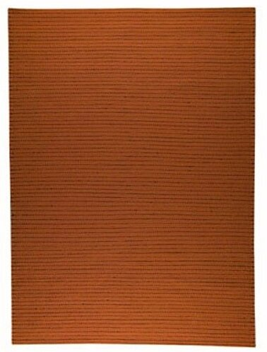 Red Barrel Studio Hoeft Striped Handmade Cotton Orange Area Rug Wayfair