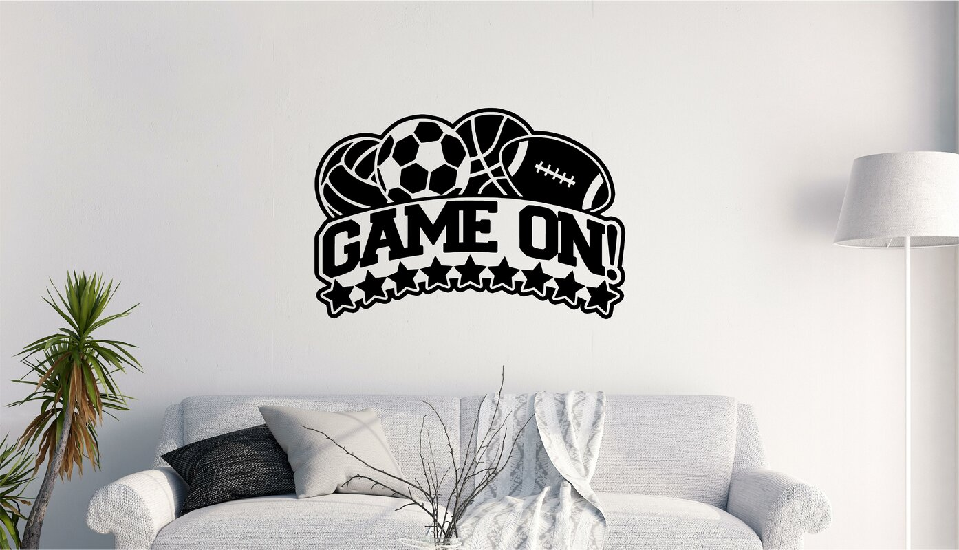 Game On Sports Vinyl Letters Words Wall Decal