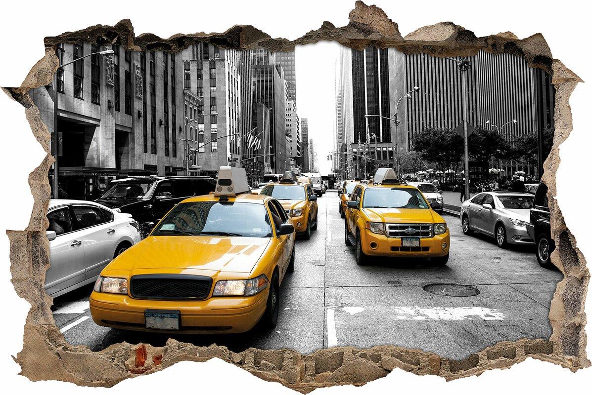 Beeindruckend New York Wandtattoo Sammlung Von Gelbes New-york-taxi