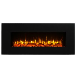 Kreiner Wall Mounted Flat Panel Electric Fireplace by Orren Ellis